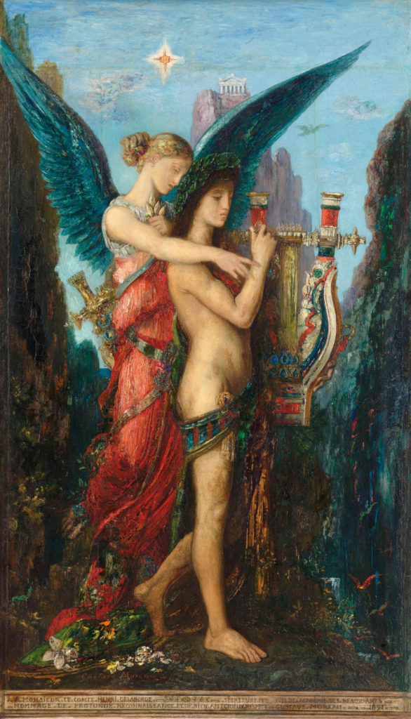 Gustave Moreau: Hesiod and the Muse (1891)—Musée d'Orsay, Paris